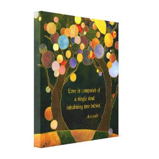 Romantisches Liebe-Zitat-Hochzeits-Geschenk Leinwand Druck