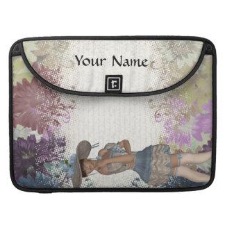 Romantisches Mädchen der englischen Rose MacBook Pro Sleeve