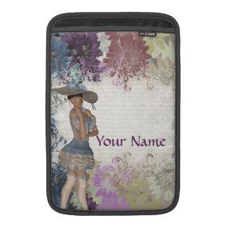 Romantisches Mädchen der englischen Rose MacBook Sleeve