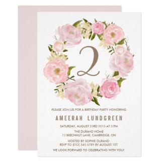 Romantisches rosa karte