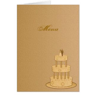 Romantisches Vintages Hochzeits-Menü Grußkarte