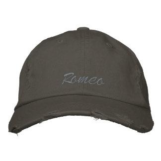 Romeo stickte Kappe/Hut Bestickte Baseballkappe