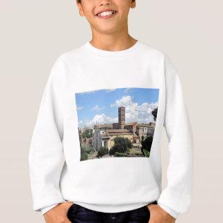 Römische Forum-Kirche mit RomanesqueGlockenturm Sweatshirt