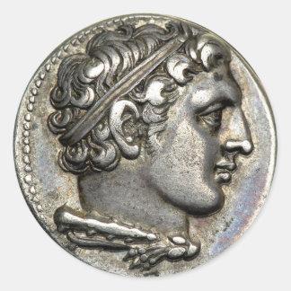 Römische Münze Runder Aufkleber