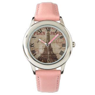 Römische Ziffern-Uhr Spaß-rosa Paris Armbanduhr