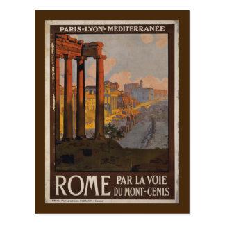 Römisches Forum-Vintage Reise-Anzeige Postkarte