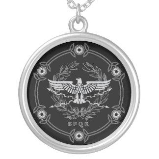 Römisches Reich-Emblem Halskette Mit Rundem Anhänger