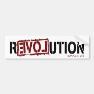 Ron Paul R3VOLUTION Autoaufkleber