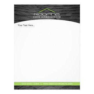 Roofing berufliches Geschäfts-Flyer-Grün 21,6 X 27,9 Cm Flyer