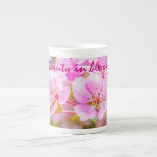 Rosa Apple blühen Prozellantasse