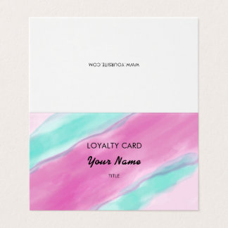 Rosa Aquamarinewatercolor-berufliche Loyalität Visitenkarten