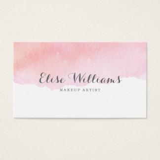 Rosa Aquarell Visitenkarte