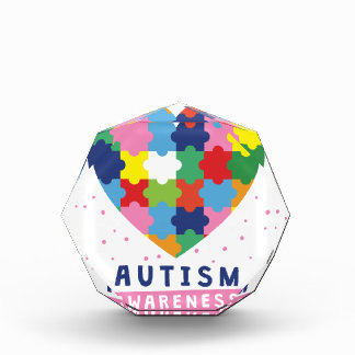 rosa Autismusbewusstsein Auszeichnung