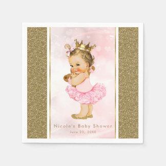 Rosa Baby-Mädchen-Duschen-Party Serviette