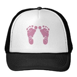 Rosa Babyabdrücke Caps