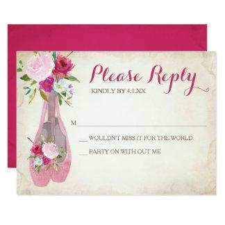Rosa Ballerina UAWG Karte ~ Ballett-Schuh