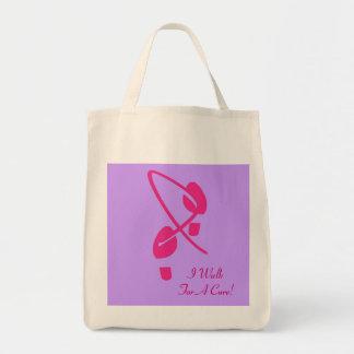 Rosa Band-Abdrücke gehe ich für eine Heilung II Einkaufstasche