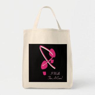 Rosa Band-Abdrücke gehe ich für eine Heilung Tragetaschen