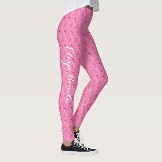Rosa Band für das Brustkrebs-Bewusstsein besonders Leggings
