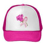 Rosa Band mit Rose *Breast Krebs-Bewusstsein * Truckermütze