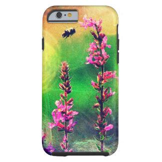 Rosa Biene der Blumen-N beleuchtet iPhone 6 Fall Tough iPhone 6 Hülle