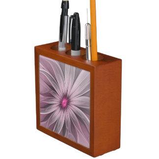 Rosa Blume wartete eine Bienen-abstrakte Stifthalter