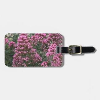 Rosa Blumen-Gepäck-Umbau Gepäckanhänger