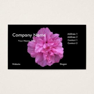 Rosa Blumen-Geschäfts-Karte Visitenkarten