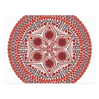 Rosa Blumen-Muster Postkarte