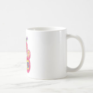 Rosa Blumen Tasse