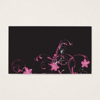 Rosa Blumen Visitenkarte