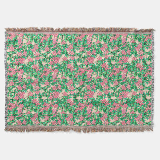 Rosa Blumen, weicher korallenroter Hintergrund Decke