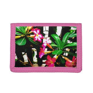 rosa Blumennylongeldbörse