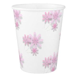Rosa Blumenpapierschale Pappbecher