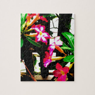 Rosa Blumenpuzzlespiel Foto Puzzle