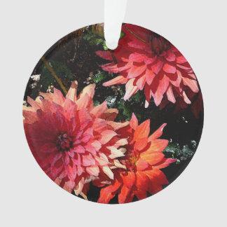 Rosa Blumenweihnachtsverzierung Ornament