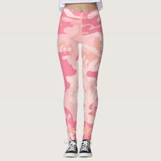 Rosa Brustkrebs-Heilungs-Camouflage Leggings