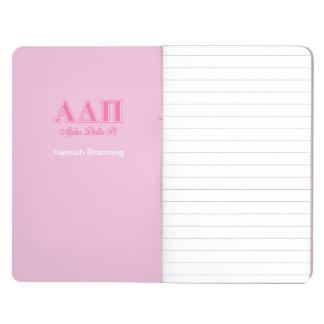 Rosa Buchstaben Alphadeltapus Taschennotizbuch