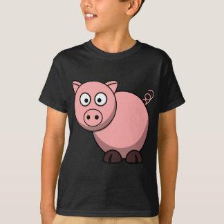 Rosa Cartoon-Schwein T-Shirt