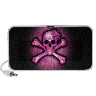Rosa Chrom-Schädel und Knochen-Lautsprecher iPod Speaker
