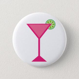 Rosa Cocktail mit Limonem Runder Button 5,7 Cm