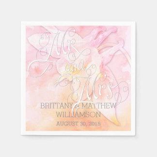 ROSA COLUMBINE-BLUMEwatercolor-SPRITZEN Papierservietten