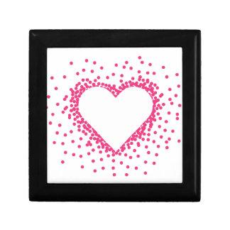 Rosa Confetti-Herz Kleine Quadratische Schatulle
