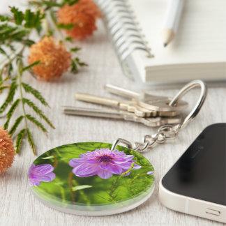Rosa Dahlie-Schlüsselkette Schlüsselanhänger