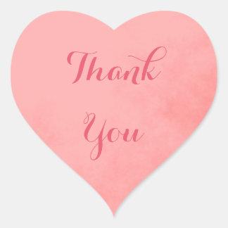 Rosa danken Ihnen Herz-Aufkleber