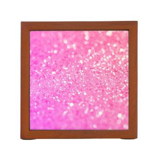 Rosa Diamant-Glitter Stifthalter