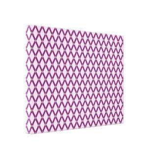 Rosa Diamant-Magentarote lila Rahmen wickelten Galerie Falt Leinwand