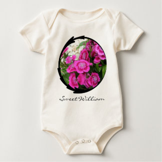 Rosa Dianthus/süßer William Baby Strampler