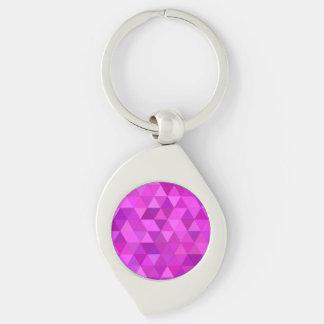 Rosa Dreiecke Schlüsselanhänger
