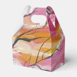 Rosa durch die Baum-Gewohnheits-Geschenkboxen Geschenkschachtel